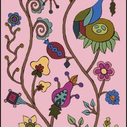 Casart Pasture Mural 1 Pink Dawn Kristin Nicholas_1x
