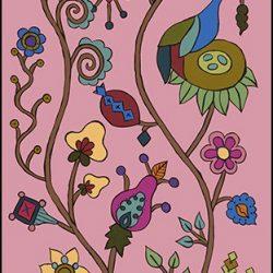 Casart Pasture Mural 1 Summer Rose Kristin Nicholas_7x