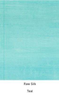 Casart Coverings_Teal Raw Silk_Organics