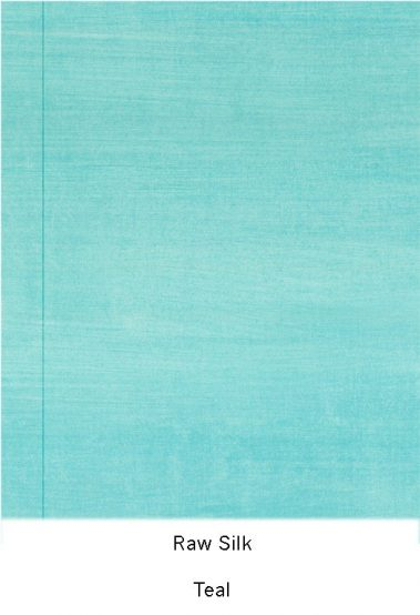 Casart Coverings_Teal Raw Silk_Organics