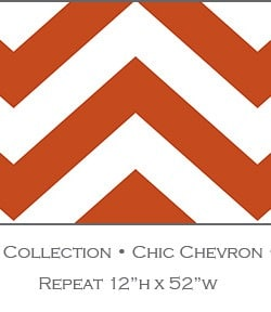 Casart coverings_Orange Fire Chic-Chevron_Libby Langdon Collection_1x
