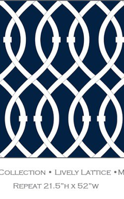 Casart coverings_Midnight Navy Lively Lattice_Libby Langdon Collection_1x