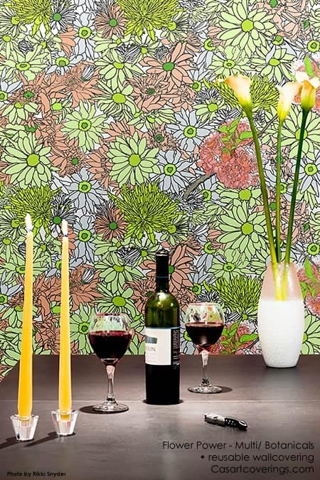 Casart Flower Power_Botanicals_ Renters Dining Room View_5x