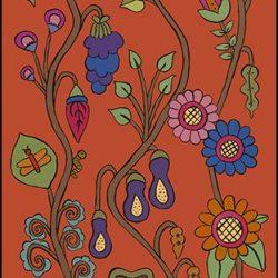 Casart Covering Feast Mural 2 Pumpkin Sunset Kristin Nicholas_10x removable wallpaper