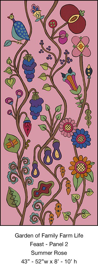 Casart Coverings Feast Mural 2_Summer Rose_Kristin Nicholas_7x