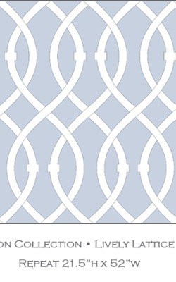 Casart coverings Icy Blue Lively Lattice_Libby Langdon Collection_2x