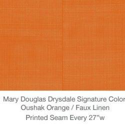 Casart MDD Mary Douglas Drysdale Signature Color Oushak Orange Casart Faux Linen 3x