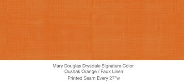 Casart MDD Mary Douglas Drysdale Signature Color Oushak Orange Casart Faux Linen 3x