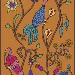 Casart_Garden Birds Mural 3_Butternut_Kristin Nicholas_5x