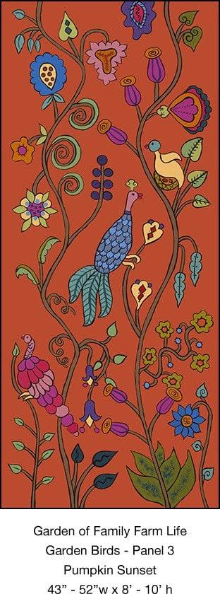Casart Garden Birds Mural 3_Pumpkin Sunset_Kristin Nicholas_10x