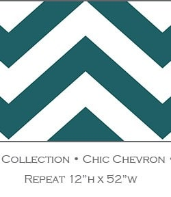 Casart coverings Totally Teal Chic-Chevron_Libby Langdon Collection_4x
