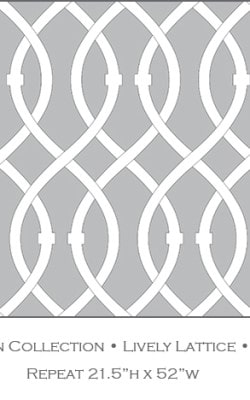 Casart coverings Steel Gray Lively Lattice_Libby Langdon Collection_4x