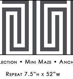 Casart coverings Anchor Gray & White Mini Maze_Libby Langdon Collection_4x