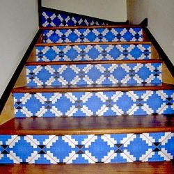 Casart coverings customer MoRockAnSoul Diamonds Stair Riser