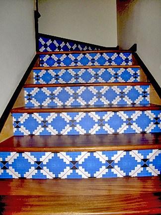 Casart coverings customer MoRockAnSoul Diamonds Stair Riser
