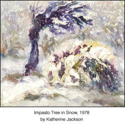 Casart coverings_ Katherine Collection-Winter Impasto Tree 2x Detail