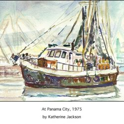 Casart Coverings removable wallpaper mural Boat in Panama City in Katherine Collection 3x