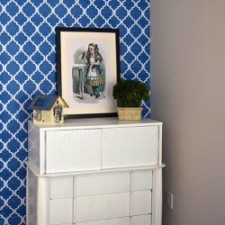 Casart Coverings MoRockAn Arch removable wallpaper with dresser close