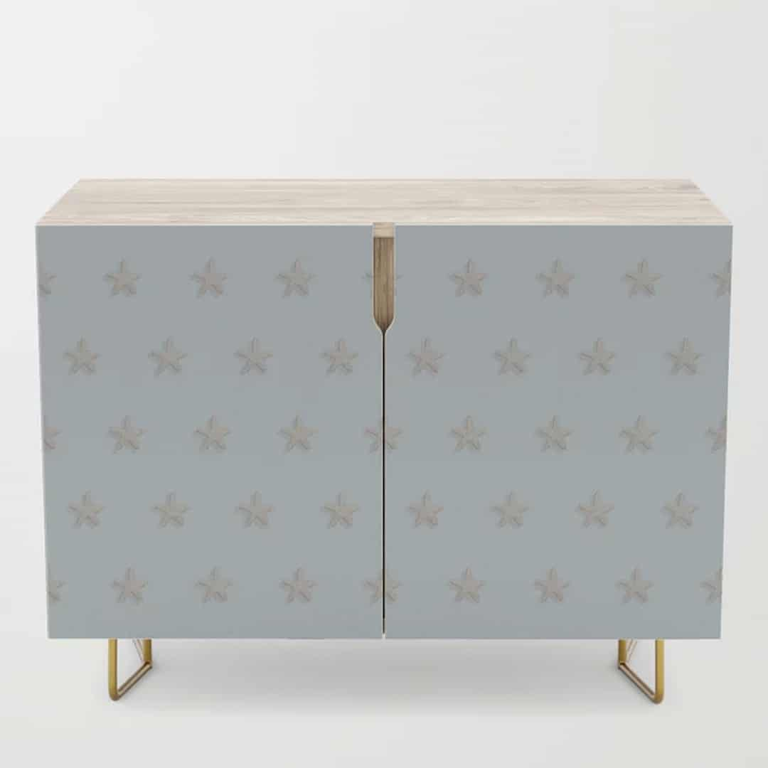 Casart Credenza Starfish Pattern in Light Blue Casart furniture