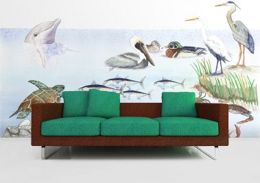 Casart Coverings Gulf Coast Mural removable wallpaper Room View