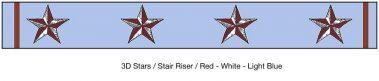 Casart_ 3D Star_StairRiser_Architectural_2x