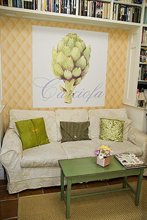 Casart Artichaut artistic Artichoke mural removable wallpaper Room view