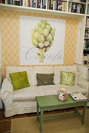 Casart Artichaut artistic Artichoke mural removable wallpaper Room view