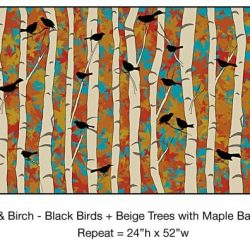 Casart Black Birds Beige Birch Maple_10