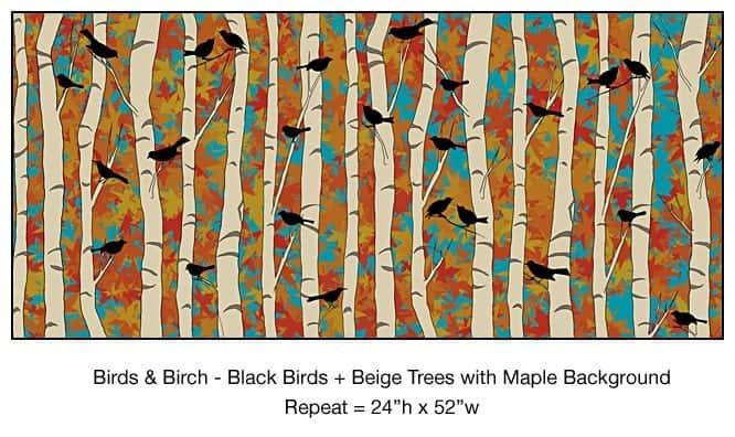 Casart Black Birds Beige Birch Maple_10