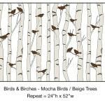 Casart_Mocha Birds Beige Birch Detail_5x