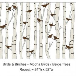 Casart_Mocha Birds Beige Birch Detail_5x