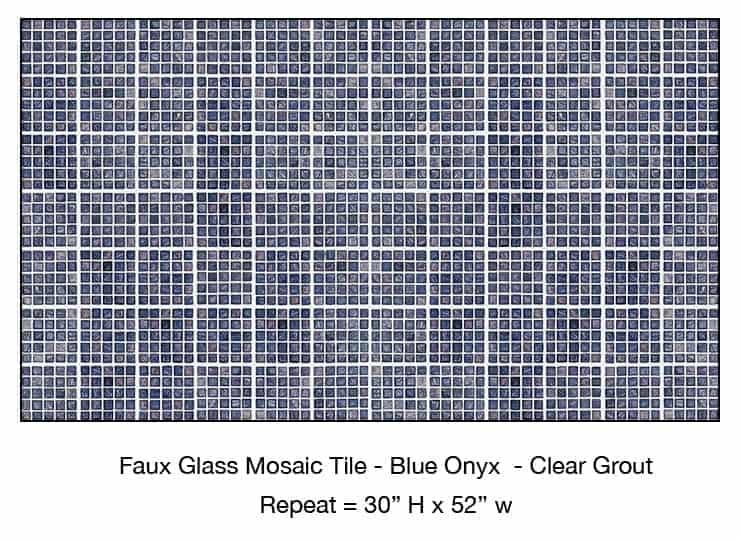 Casart_Blue Onyx Faux Glass Clear Grout Tile_8-bx_Architectural