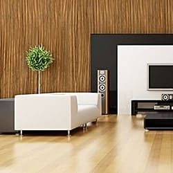 Casart coverings contemporary Zebrawood – Organics room view