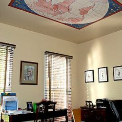 Casart Coverings Custom-World-Map removable ceiling wallpaper_Rm