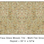 Casart_Mulit-colored Faux Glass Tile_Architectural_1x