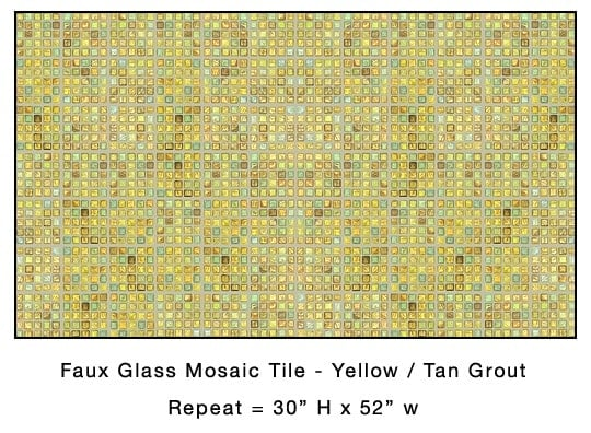 Casart_Yellow Faux Glass Tile_Architectural_2x