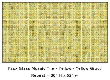Casart_Yellow Faux Glass Tile_Architectural_3x
