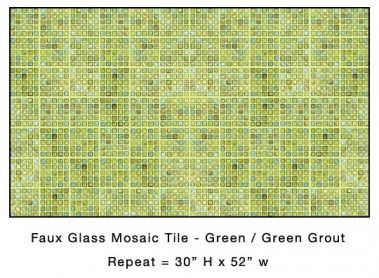 Casart_Green Faux Glass Tile_Architectural_4x