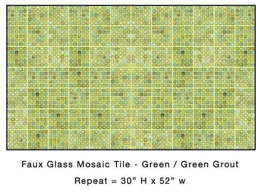 Casart_Green Faux Glass Tile_Architectural_4x