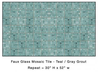 Casart_Teal Faux Glass Tile_Architectural_5x