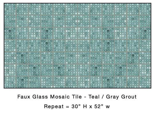 Casart_Teal Faux Glass Tile_Architectural_5x