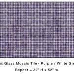 Casart_Puple Faux Glass Tile_Architectural_6x