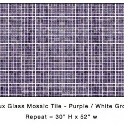Casart_Puple Faux Glass Tile_Architectural_6x