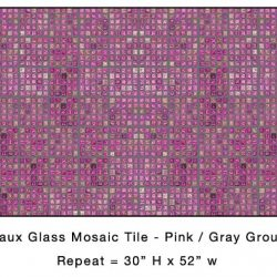 Casart_Pink Faux Glass Tile_Architectural_7x