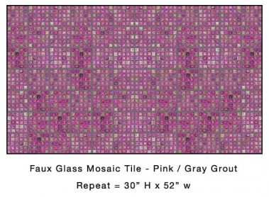 Casart_Pink Faux Glass Tile_Architectural_7x