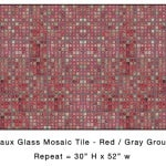 Casart_Red Faux Glass Tile_Architectural_8x