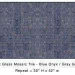 Casart_Blue Onyx Faux Glass Tile_Architectural_9x