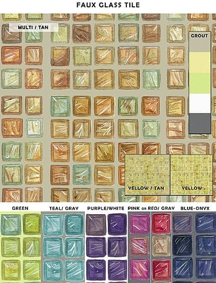 Casart_Faux Glass Tile_Sample