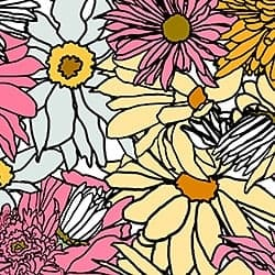 Casart_Multi-Bold Pink Yellow Flower Power - Botanicals C_2