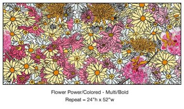 Casart_Multi-Bold Pink Yellow Flower Power - Botanicals C_2x